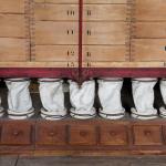 A la base du plansichter les manches en feutre et les trappes de visite