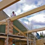 Pose de l'isolation de la toiture