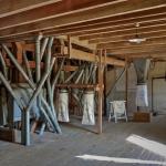 Premier étage et la trémie d'ensachage de la farine