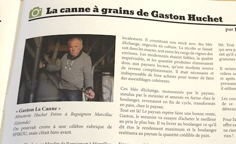 La canne à grains de Gaston Huchet